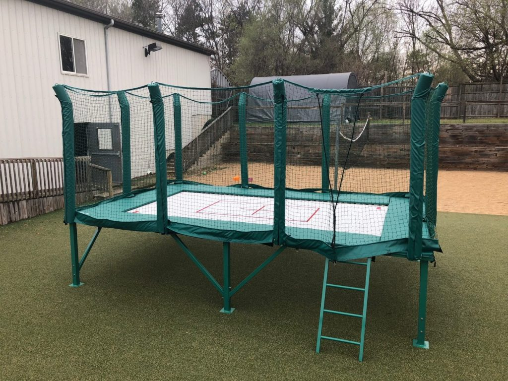 MaxAir's Standard 7x14-foot above ground trampoline sits on an above-standard frame made from high quality steel with a powder-coated finish.