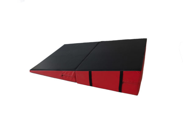 A folding wedge mat, unfolded.