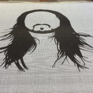 Steve Aoki Custom Logo trampoline bed