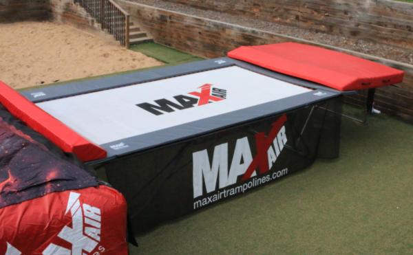 A MaxAir complete trampoline setup with mat, springs, and pads. View MaxAir Trampolines Terms of Service.